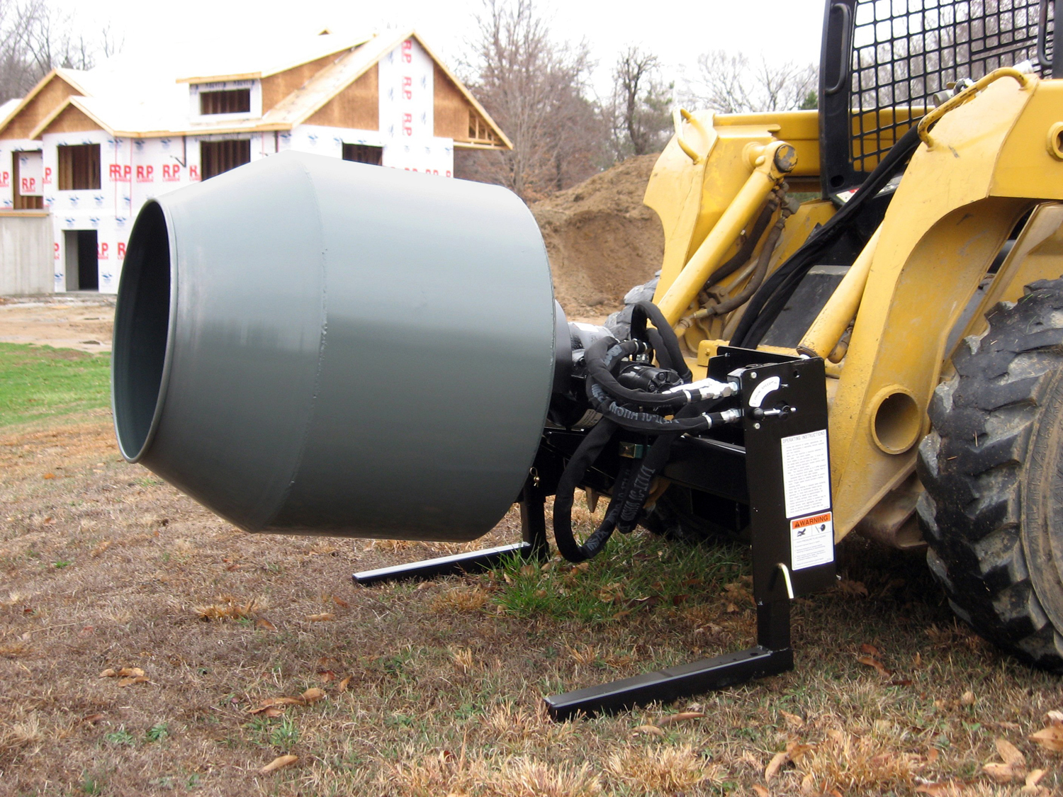 Worksaver's SS-590 Hydraulic Cement Mixer