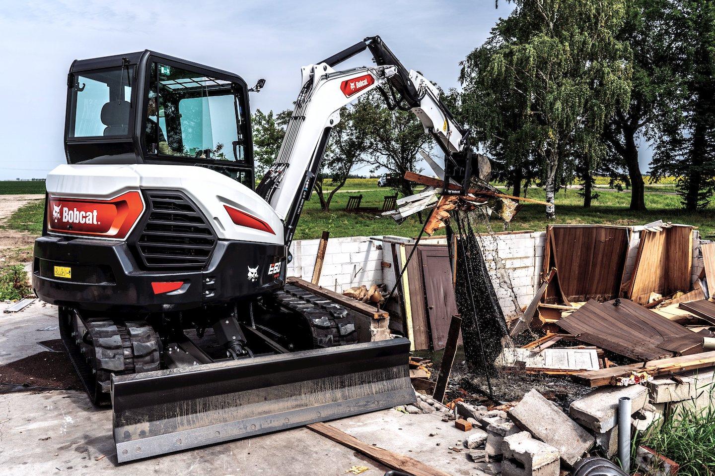 bobcat e60 compact excavator demolition