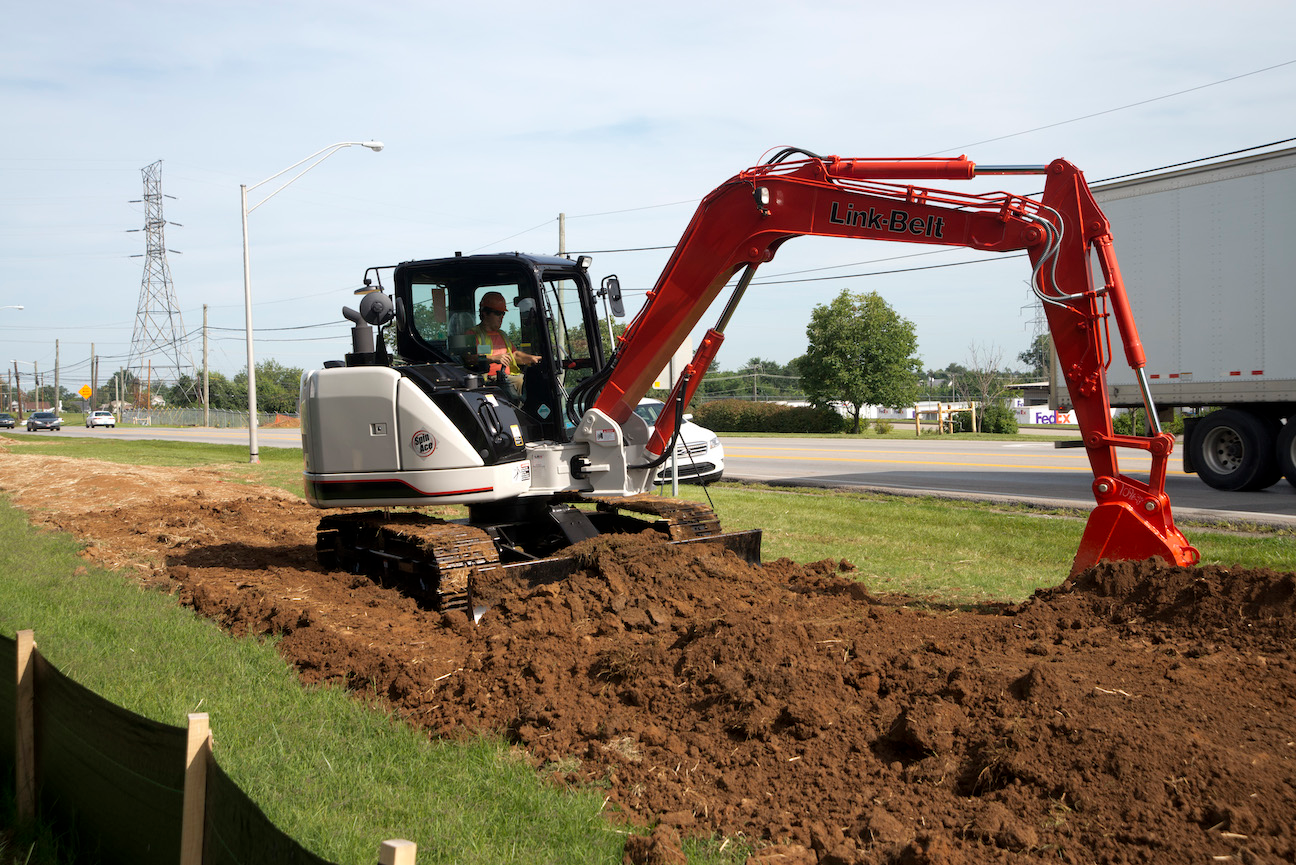Link-Belt 80 X3 Spin Ace compact excavator